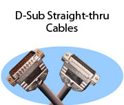 D-Sub Straight-thru Cables