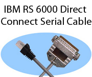 IBM RS 6000 Direct Connect Serial Cables