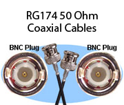 RG174 50 Ohm Coaxial Cables