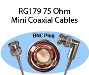 RG179 75 Ohm Mini Coaxial Cables