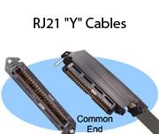 """RJ21 """"Y"""" Cables"""