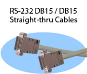 RS-232 DB15 / DB15 Straight-thru Cables
