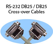 RS-232 DB25 / DB25 Cross-over Cables