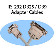 RS-232 DB25 / DB9 Adapter Cables