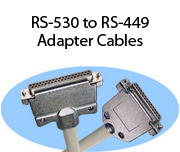RS-530 to RS-449 Adapter Cables