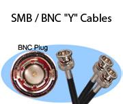 """SMB / BNC """"Y"""" Cables"""