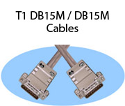 T1 DB15M / DB15M Cables