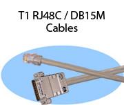 T1 RJ48C / DB15M Cables