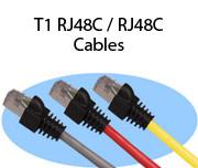 T1 RJ48C / RJ48C Cables