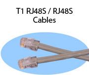 T1 RJ48S / RJ48S Cables