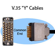 "V.35 ""Y"" Cables"