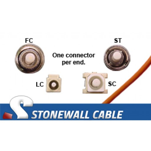 OM2 Multimode 50/125 Simplex Fiber Cable
