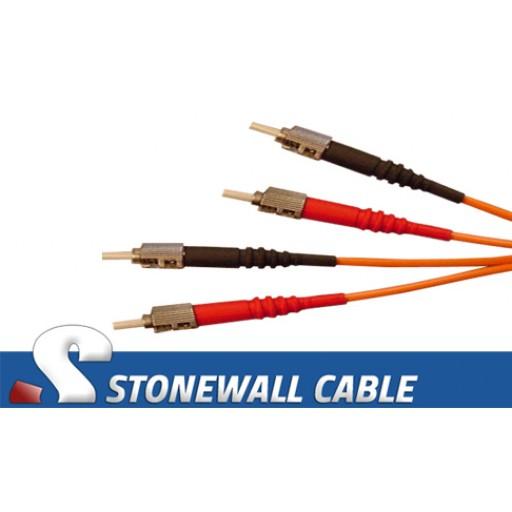 Multimode Duplex 62.5/125 ST / ST Fiber Cable