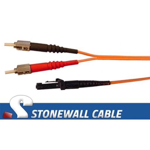Multimode Duplex 62.5/125 ST / MT-RJ Fiber Cable