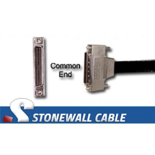 "SCSI MicroD-50 Male Screws ""Y"" Cable"