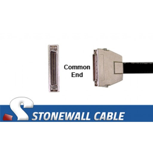 """SCSI MicroD-50 Male Latches """"Y"""" Cable"""