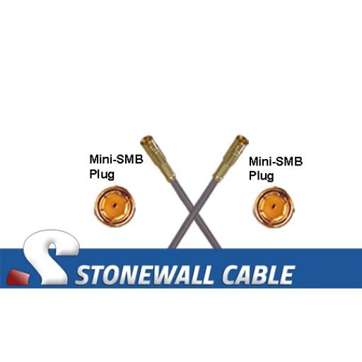 735A Coax Cable Mini-SMB Plug / Mini-SMB Plug