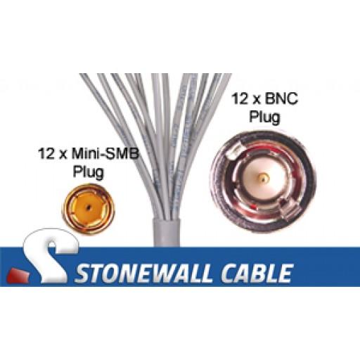 735A Coax Cable 12 x Mini-SMB Plug / 12 x BNC Plug