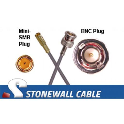 735A Coax Cable Mini-SMB Plug / BNC Plug