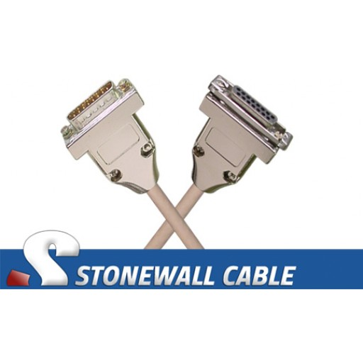 Ethernet Office AUI Transceiver Cable DB15MF
