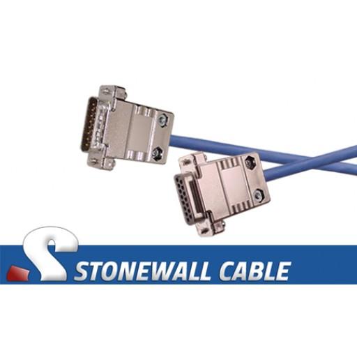 T1 High Flex DB15MF Straight-thru Cable