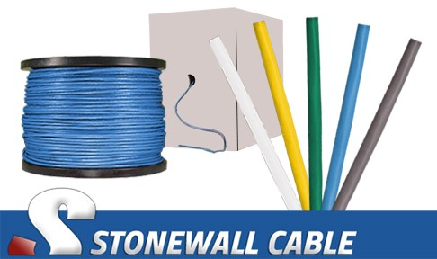 Cat5e 4 Pair Plenum Solid Bulk Cable Stonewall Cable