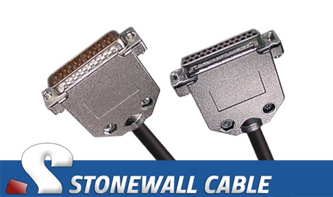 Rs 530 Cable Db25mf Straight Thru Stonewall Cable