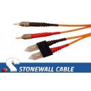 Multimode Duplex 62.5/125 ST / SC Fiber Cable