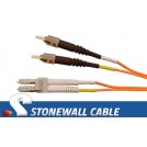 Multimode Duplex 62.5/125 ST / LC Fiber Cable