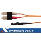 Multimode Duplex 62.5/125 SC / MT-RJ Fiber Cable