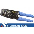 Cat6 RJ45 Crimp Tool for RJ45 with Strain Relief