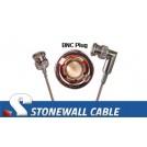 RG179 Coax Cable BNC Plug / BNC Right Angle Plug
