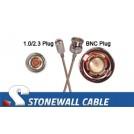 RG179 Coax Cable 1.0/2.3 Plug / BNC Plug
