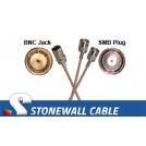 RG179 Coax Cable BNC Jack / SMB Plug / SMB Plug