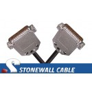 RS-530 Cable DB25MM Straight-thru