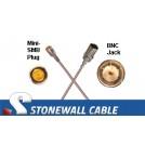 RG179 Cable Mini-SMB Plug / BNC Jack