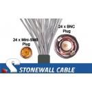735A Coax Cable 24 x Mini-SMB Plug / 24 x BNC Plug