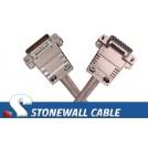T1 DB15MF Straight-thru Cable