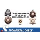 OM4 Multimode 50/125 10/40/100 Gig 4-Strand Fiber Cable