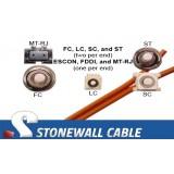 OM2 Multimode 50/125 Duplex Fiber Cable