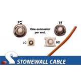 OM1 Multimode 62.5/125 Simplex Fiber Cable