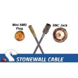 735A Coax Cable Mini-SMB Plug / BNC Jack