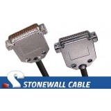 RS-530 Cable DB25MF DTE Crossover