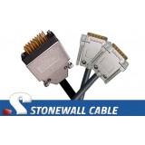 """V.35 """"Y"""" Cable; Adtran TSU 100 to 2 x Cisco Router (DB60)"""
